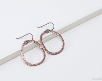 Hardware-inspired Textured Organic Copper Earrings