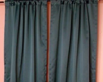 """Teal Curtains 30""""W x 84""""L"""