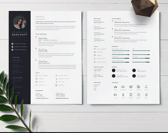 Modern Resume Template for Microsoft Word   Professional Resume   Best Resume Template    Creative Resume   CV Template + Cover Letter