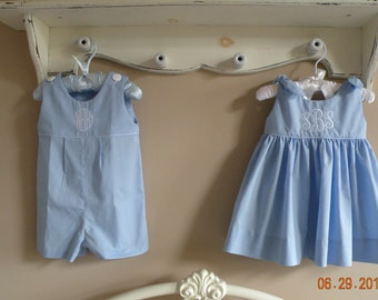 Monogrammed Outfits for Twins