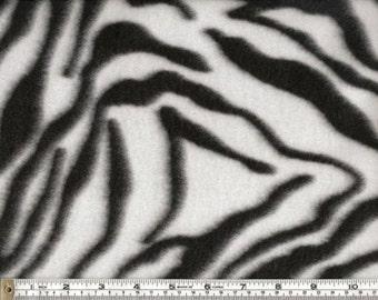 Animal Print Zebra Design Polar Fleece-2 by the yard