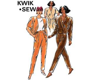 Kwik Sew 2099 Womens Cropped Jacket & Pants 90s Vintage Sewing Pattern Sizes XS - XL UNCUT Factory Folded