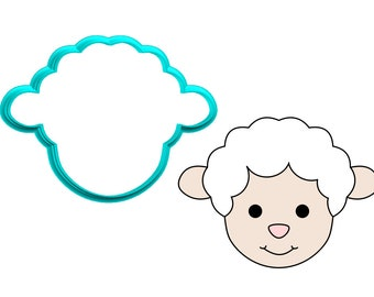 Sheep Face #2 Cookie Cutter