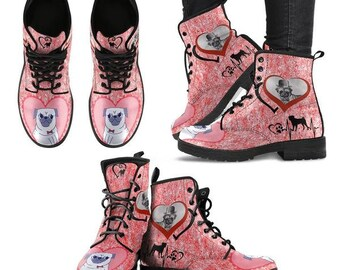Special-Pug Dog Print Boots For Women