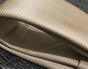 Champagne solid silk skinny tie