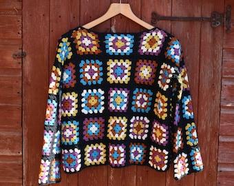 Granny square jumper