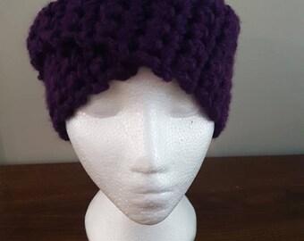 Dark Purple Ear Warmer