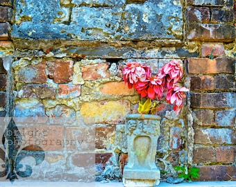 8x10 In Thy Slumber - Tomb & Flowers