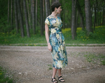 Robe portefeuille floral