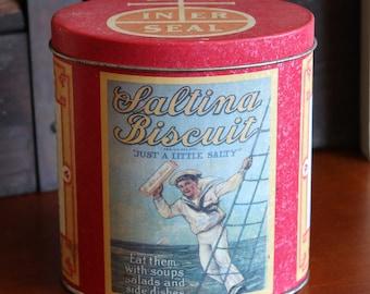 Nabisco Saltina Biscuit Tin