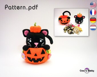Pattern - Pumpkin Cat Pot