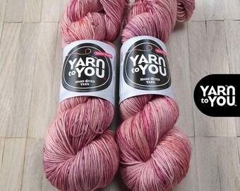 Hand Dyed Sock Yarn Superwash Merino - Yarntoyou  - SOCK MERINO - Rosalia
