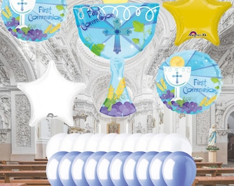 1st Holy Communion Balloons for Boys and Girls
