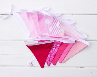 "Good Will Bunting ""Strawberry Shortcake"" Pink Fabric Bunting"