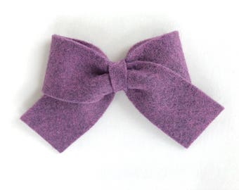 Purple felt hair bow - felt bows, hair bows, girls bows, baby bows, girls hair bows, felt hair bows, hair bows for girls, baby hair bows