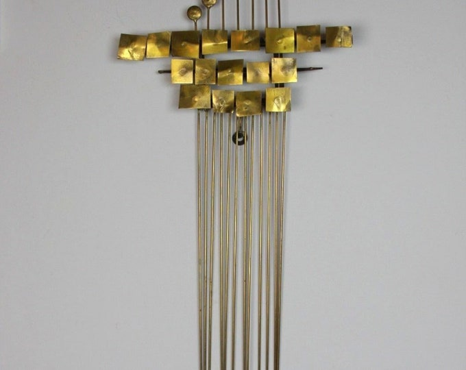 Mid Century Modern WILLEM DEGROOT Signed BRASS Brutalist Wall Sculpture