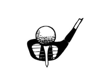 GOLF CLUB and BALL unmounted rubber stamp, golfing, summer sports, Father's Day, Sweet Grass Stamps No.14