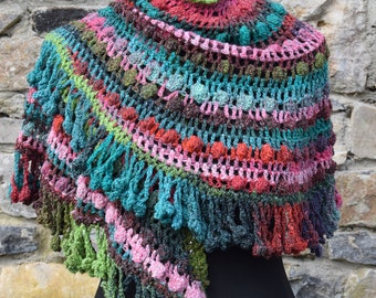 Crochet shawl wrap