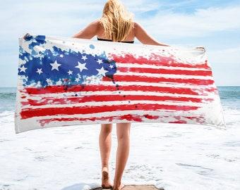 4th of July Custom Printed Towel