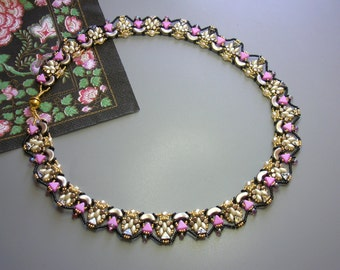 Tutorial - Princess Necklace - Arcos and Minos, Kheops, Super Duo and Fire Polish beads beading tutorial