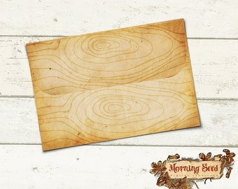 Wood envelope Vintage envelope template To Fit 4 x 6 inch Card - Instant Download