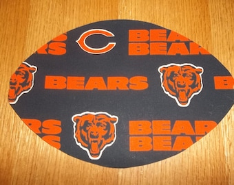 Mouse Pad, Chicago Bears, Mouse Pads, Mousepad, Desk Accessories, Mouse Mat, Office Decor, Football Shape, Computer Mouse Pad, Gift