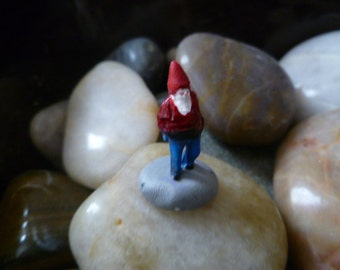 Gnome Needs a Home  HO Scale  Model Train Figure Perfect for Planter or Terrariums