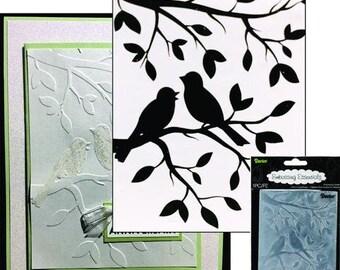 Birds on a Branch (RETIRED DESIGN) Embossing Folder - LAST 3