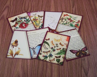 16 Butterfly Gift Tags. 2 SETS of 8 Butterfly Thank You Cards. 5357