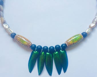 Goddess Wings* beetle wing necklace