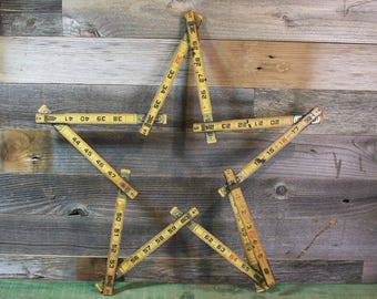 Natural Wooden Extension- Lufkin RULER with Metal Slide Out Rule- Vintage Measurement- Wood- A34