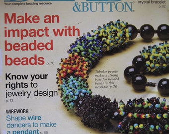 Bead and Button Magazine Make an Impact with Beaded Beads Kumihimo Lariat August 2007 Issue