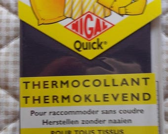 PERCALE Thermocollante Navy - 100% cotton - tape 12 cm x 45cm