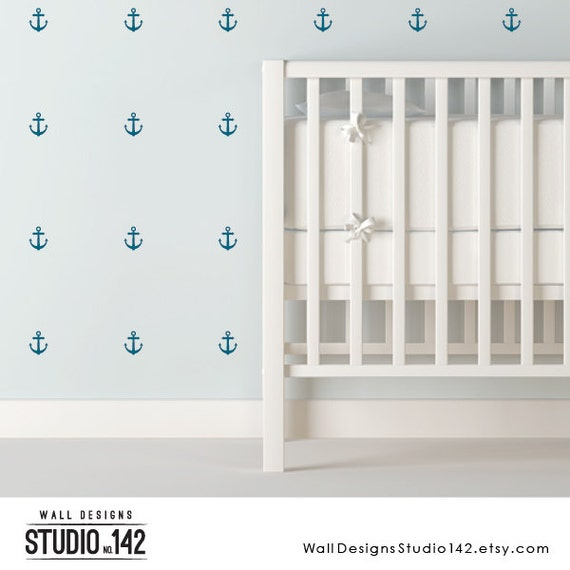 Bathroom Wall Aer: Anchor Vinyl Wall Decals Great For A Nautical Nursery