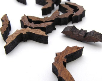 Halloween Mini Bat Charms - Itsies - Laser Cut Wood Bats   Timber Green Woods Sustainable Forestry Products