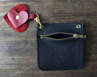 Coin 01, Coin purse, Leather Keychain Wallet, Leather Credit Card Wallet, ID Holder, Business Card Holder, Metro Card pouch, Key Zip Pouch,