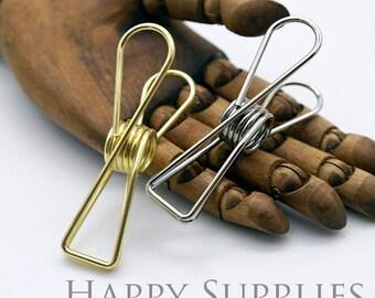 4pcs Vintage Golden or Silver Fishtail Clip / Binder Clip / 3 Size to Choose (C01)