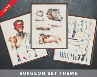 Anatomy posters for SURGEON SURGERY medical student gift for doctor anatomy art anatomical medical art human biology