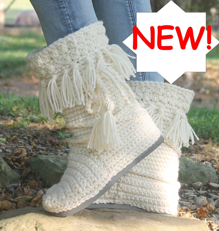 Crochet Boots PatternNEW FRINGE MUKLUKS wear