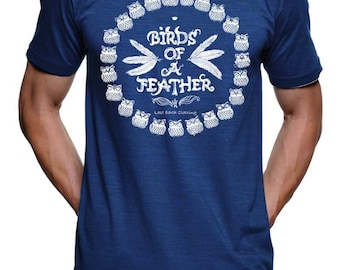 Birds of a Feather T Shirt - American Apparel Tshirt - S M L Xl 2X (3 Color Options)