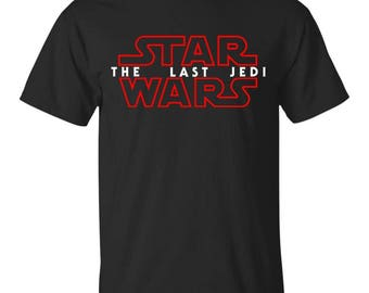 Star Wars The Last Jedi Red Outline Logo Graphic Youth Ultra Cotton T-Shirt