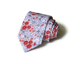 Necktie~Coral Blush Gray~Anniversary Gift~Wedding Tie~Mens Gift~Boys Necktie~Mens Necktie~Wedding~HoBo Ties~Mens Tie~Boys Tie~Blush Wedding
