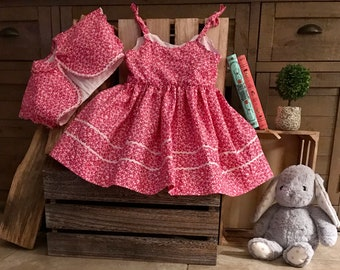 Rose summer dress with matching jacket