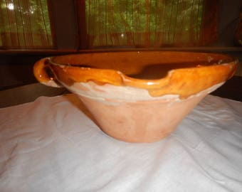 French Pottery Slipware Tian ~ or Batter Bowl