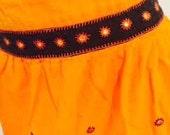 Orange Cotton Embellished...