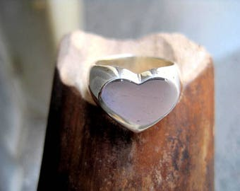 heart -shaped ring 925 silver