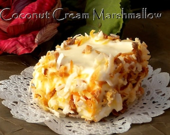 Sweet Handmade Gourmet Toasted Coconut Cream Marshmallow