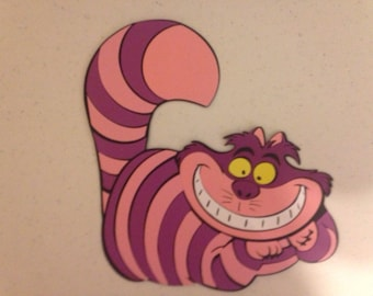Cheshire Cat die cut from Alice on Wonderland