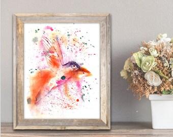 Bird Art, Bird Painting, Bird Wall Art, Bird Prints, Bird Watercolor, Printable Art, Bird Art Print, Modern, Home Decor, Handmade