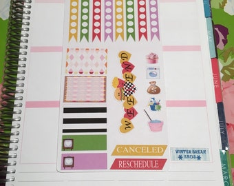 Planner Stickers: Fast food fun functional sheet